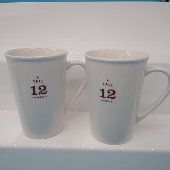 Set Of 2 STARBUCKS 2010 Ceramic Coffee Mug (12 OZ.